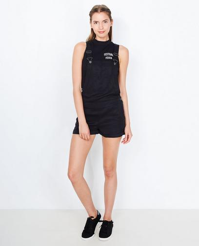Salopette short noir